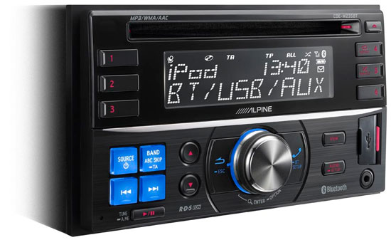 un nouvel autoradio 2 din bluetooth chez alpine club auto radio. Black Bedroom Furniture Sets. Home Design Ideas