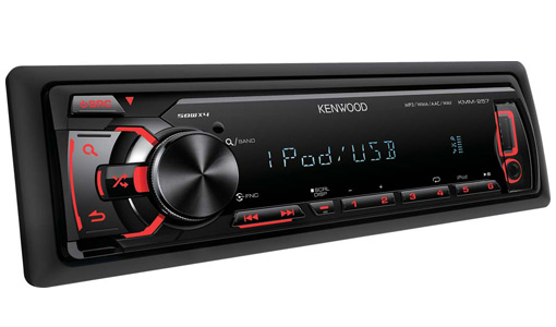 kenwood kmm257 usb en fa ade compatible ipod et android club auto radio. Black Bedroom Furniture Sets. Home Design Ideas